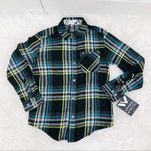 Shaun White Black Plaid Flannel Shirt Size S/P 6-7